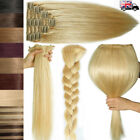 Thick Volume Double Weft Clip in Remy Human Hair Extensions Full Head 160g+ N069