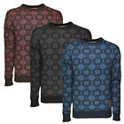 Soulstar Mens Frostbite Knitted Jumper Long Sleeved Warm Adults Chunky Sweater