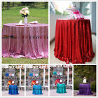 "48""-156"" Sequin Table Cloth, Shimmer Sparkly Overlays Tablecloths for Wedding"