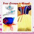 OZ Halloween Christmas Snow White Party Costume Dresses Girls Dresses SIZE 3-9Y