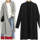 Womens Open Front Trench Coat Long Cloak Jacket Overcoat Waterfall Cardigan Gift