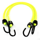 LUMINOUS YELLOW 10mm LUGGAGE ELASTICS, BUNGEE STRAPS SHOCK CORD SPIRAL HOOK ENDS