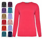 Ladies Jumpers New Womens Plus Size Batwing V-Neck Knitted Sweaters UK 8-22