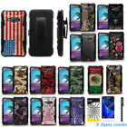 Samsung Galaxy J1 2016 SM-J120 Dual Layer KickStand Holster Case + Film + Pen