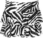 New Womens Short Zebra Animal Black White Print Rara Ladies Mini Skirt 8-14