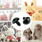 New 100X Black Plastic Safety Eyes Teddy Bear Doll Animal Puppet Crafts 6-10mm