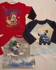 DISNEY Baby Mickey Size 4T 18 or 24 Month Choice Long Sleeve Cotton Shirt NWT