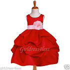 RED BABY PINK PICK UP WEDDING PARTY FLOWER GIRL DRESS 6M 12M 18M 2 4 5/6 8 10 12
