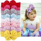 1 pc Kids Cotton Bow Hairband Headband Stretch Turban Knot Head Wrap