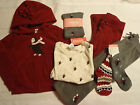 GYMBOREE Girls Penguin Chalet Size 3-4 Hoodie Socks 3 & 4 Pants Shirt Outfit NWT