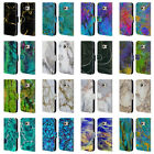 OFFICIAL HAROULITA MARBLE LEATHER BOOK WALLET CASE COVER FOR SAMSUNG PHONES 1
