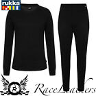 RUKKA MARK MENS WICKING BASE LAYER UNDERWEAR SHIRT AND PANT SET BLACK
