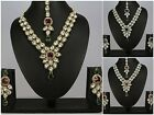 Gold Plated Indian Wedding Women New Kundan Necklace Set Earring