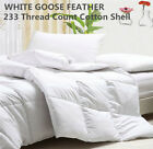 WHITE GOOSE FEATHER DUVET COMFORTER