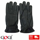 Gogi 100 % Real Soft Leather Gloves Use Summer Winter Fashion Casual 3 Ply Black