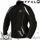 BUFFALO LADIES WOMENS VERONA BLACK WHITE WATERPROOF MOTORCYCLE MOTORBIKE JACKET