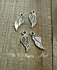 Angel Wing Charms Pendants-21mm-Angel Wings-Silver-Wholesale Lot 25 50 100pcs