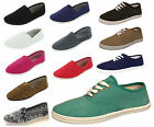 Womens Ballet Flats Canvas Slip On Shoes Casual Slippers Sparkle Ladies USA