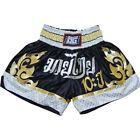 BLACK '10YR' SHORTS TRUNKS FOR MARTIAL ARTS AND THAIBOXING
