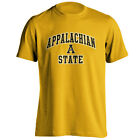 Appalachian State University Mountaineers Arch Mascot Gold Short Sleeve T-Shirt