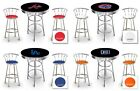 furniture for man cave - MLB LOGO THEMED BLACK AND CHROME BAR TABLE SET FOR MAN CAVE, PUB OR GAME ROOM