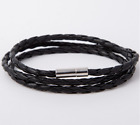 Genuine Leather Bracelet Men Women Fashion Vintage Braided Magnetic Clasp NEW <br/> GENUINE LEATHER BRACELETS - FAST SHIPPING - 31 VARIETY