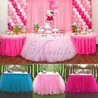 Tulle TUTU Table Skirt Tableware Wedding Party Xmas Baby Shower Birthday Decor