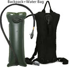 3L Water Bladder Bag Hydration Backpack Pack Hiking Camping Cycling Outdoor US