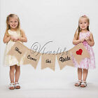 """""""Here Comes the Bride"""" Sign Burlap Banners Rustic Wedding Party Decor Photo Prop"""