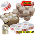 LONG LENGTH TAPE STRONG CLEAR / BROWN / FRAGILE 48mm x 66M PACKING PARCEL TAPE