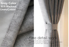 New Curtain Stage Blackout  Custom Sizes Available Made in Canadar Grey#102