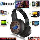Stereo Bluetooth V3.0 Wireless Headset/Headphones With Call Mic FM Radio Gift