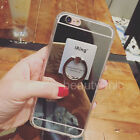Luxury Ring Holder Stand Mirror Phone Case Cover For iPhone 7 /Samsung Galaxy