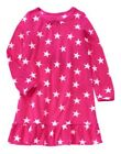 NWT Girl's Crazy 8 ACTIVE HOLIDAY PARTY Hot Pink Fleece Stars Gown Nightgown