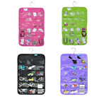 18 Pockets Closet Hanging Jewelry Organizer Necklace Storage Holder Bag Display