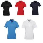 Women's TriDri Short Sleeve Feminine Fitted Style Panelled Polo Shirt Size 8-16