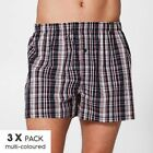 NEW Maxx 3 Pack Woven Boxer Shorts