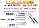 SAVAGE GEAR 10pc MINI SANDEEL JIG HEAD KIT SEA GAME COARSE FISHING LURES