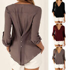 2017 Women's Loose Long Sleeve Chiffon Casual Blouse Shirt Tops Fashion Blouse