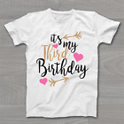It's My 3rd Third Birthday T-Shirt - Childrens Kids T Shirt Girls Cake Smash
