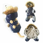 Pet Dog Puppy Jacket Winter Coat Cotton Padded Costumes Hoodie Clothes Warm