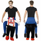 Smiffy's Adults Sinister Clown Piggy Back Costume Unisex Novelty Fancy Dress