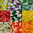1000 Empty Gelatin Capsules Size 0 Several colors to choose from.