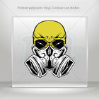 Stickers Sticker Gas Mask Skull Car Motorbike Bike Garage bike st5 RSX99