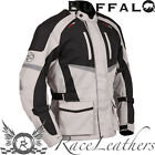 BUFFALO ALPINE BLACK GREY MENS WATERPROOF THERMAL TOURING MOTORCYCLE BIKE JACKET