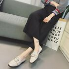 New Square Toe Loafer Buckle Casual Pump Solid Slipper Flat Work OL Womens Shoes