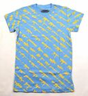 Rogue Status GUN SHOW Light Blue Yellow Screenprint Guns Junior's T-Shirt