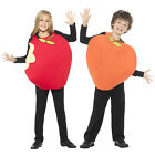 Smiffy's Childs Apple Or Peach Padded Tabard Fruit Book Day Fancy Dress Costume