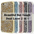 Bling Diamonds Hybrid TPU Hard Back Case Cover For Apple iPhone 8 Plus X 7 6S