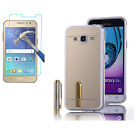 Full Cover Tempered Glass Screen Protector+Soft TPU Mirror Case for Samsung #0
